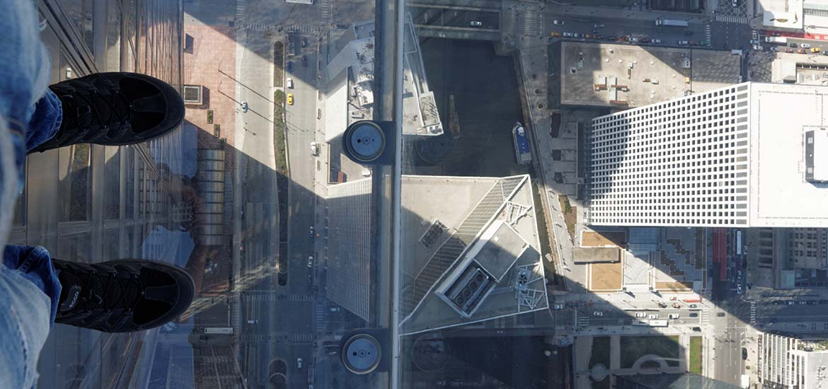 Spacer w przestworzach - Skydeck na Willis Tower w Chicago