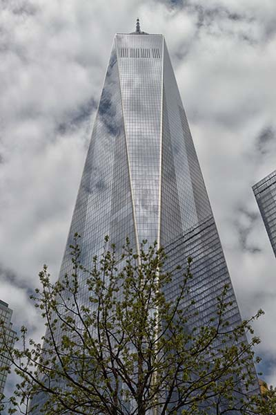 Widok na One World Trade Center w Nowym Jorku